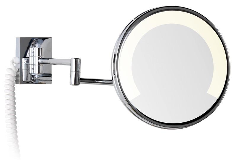 Jr design espejos de aumento zen con luz fluorescente for Espejo de aumento con luz